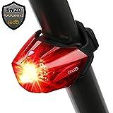 BIGO Fahrrad Rücklicht, StVZO Zugelassen Ultra Hell LED USB Aufladbar Wasserdichte Fahrradlicht Fahrradbeleuchtung Fahrradlampe Aufladbar Fahrradrücklicht Fahrradhelme Lichter -