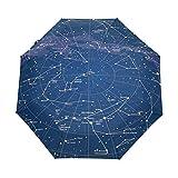 Parapluie Personnalisable Univers 3 Plis Galaxy Constellation Star Coupe-Vent...