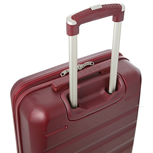 Aerolite Leichtgewicht ABS Hartschale 4 Rollen Handgepäck Trolley Koffer Bordgepäck Kabinentrolley Reisekoffer Gepäck, Genehmigt für Ryanair, easyJet, Lufthansa, Jet2 und viele Mehr, Weinrot - 4