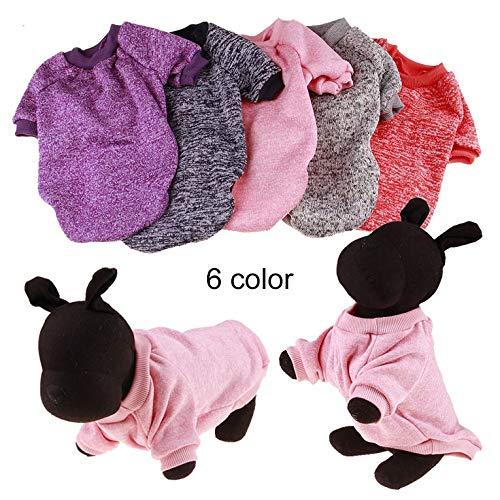 kangOnline Warmer Pullover für Hunde und Chihuahua aus Baumwolle, grün, XS
