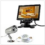 Kit Videoüberwachung Komplettset–Kamera + Monitor 7Zoll 2Kanal + Kabel 50Meter