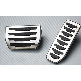 Für evoque Discovery Sport Auto Bremse Gaspedal Pedalabdeckung Pedalkappe Pedalset Aluminiumlegierung PPE-Gleitschutz AT zwei