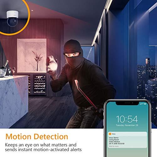 Imou 1080 FHD WLAN IP Kamera Überwachungskamera mit Nachtsicht, Bewegungserkennung, Zwei-Wege-Audio, 355°Schwenkbar, Mobile App Kontrolle