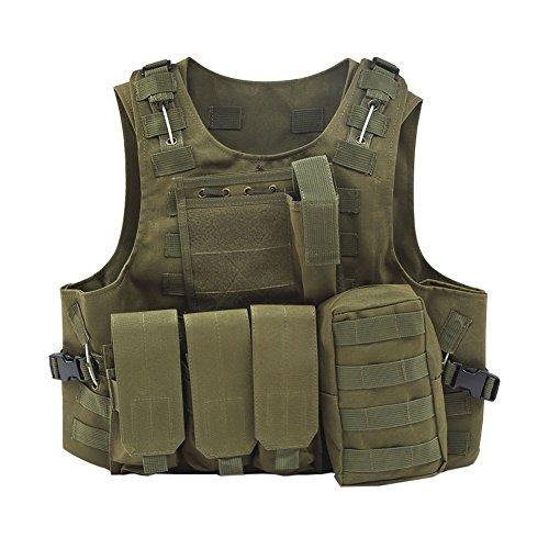 Etopfashion Caza Camuflaje Militar Chaleco Táctico Juego Body Springs Blindaje Chaleco De...