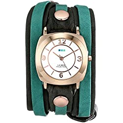 La Mer Collections Damen LMDYLY1001 Neon Odyssey Layer Slate-Teal Wash Armbanduhr