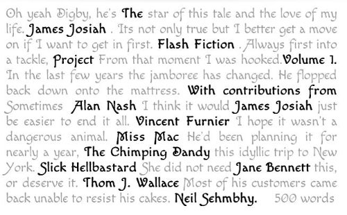 The James Josiah Flash Project Volume 1. (English Edition)