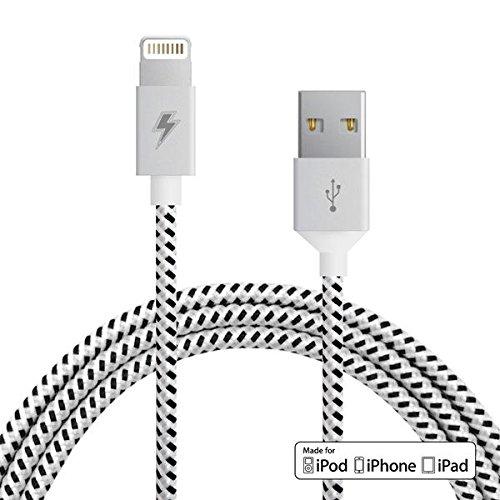 Anker 0.9m Nylon iPhone Ladekabel lightning Kabel mit lebenslange Garantie, [Apple MFi Zertifiziert] für iPhone X/8/8 Plus/7/7 Plus/6s/6/6 Plus iPad und weitere (Grau)