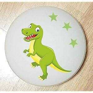 Deckenleuchte/Wandlampe * DINOS Dinosaurier 3 grün * auch LED – mit/ohne Name