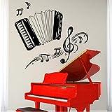 Czxmp Neue Kinderzimmer Musik Wand Vinyl Musik Akkordeon Satz Notizen Garantierte Qualität Aufkleber40 * 45 Cm