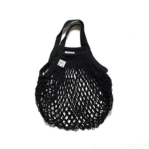 Filt Einkaufsnetz/Einkaufstasche/Netztasche/Net Bag aus Baumwolle, small Size, (schwarz)