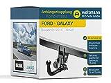 Weltmann 7D060012 FORD GALAXY - Abnehmbare Anhängerkupplung inkl. fahrzeugspezifischem 13-poligen Elektrosatz