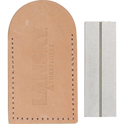 Lansky Sharpeners Unisex's Double Sided Diamond Pocket Stone-Grey, one size