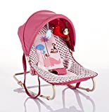 Cute Baby - Pink - Spotted Rocker With Canopy And Toys(BR203-104)