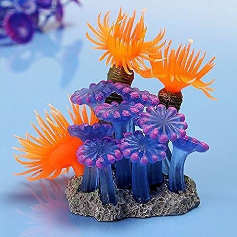 Topker Aquarium Künstliche Fake Harz Koralle Simulation Meer Pflanze Ornament Fisch Tank (Pflanzen Aquarium Ornament Dekoration)