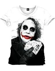 Batman-the joker heath ledger t-shirt pour homme blanc