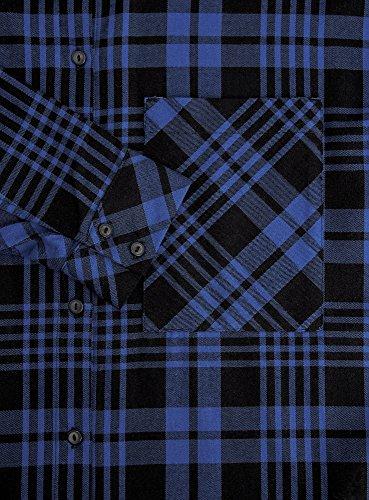 oodji Ultra Donna Camicia Larga a Quadri con Tasca su Petto Blu (2975C)