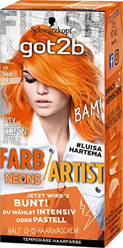 rb/Artist Haarfarbe, 108 Neon Orange, 1er Pack (1 x 80 ml) ()