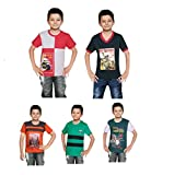 #10: VISTA GMR Boys H/S t-Shirt Pack of 5 - (1 to 10 Years)