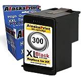 1 x Druckerpatrone Ersatz für Hp 1x 300 XL Original alaskaprint Tinte Deskjet D2568 black 21ml Ersatz für Hp cc641ae ( 300 xl , hp300xl) ,schwarz, bk Smartserie