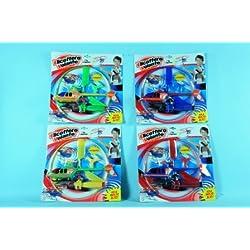 Globo Toys 318544Couleurs d'été Pull Hélicoptère avec Anneau de Protection