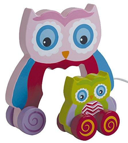 Beluga Spielwaren 70093 - Eule zum Nachziehen mit Baby -