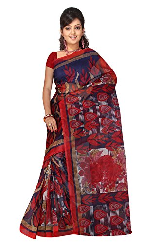 Winza Designer Womens Super Net Printed Ethnic wear with blouse Saree  available at amazon for Rs.499