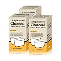 6 Filters Generic Charcoal Filters Replacement Cuisinart Coffee Machines