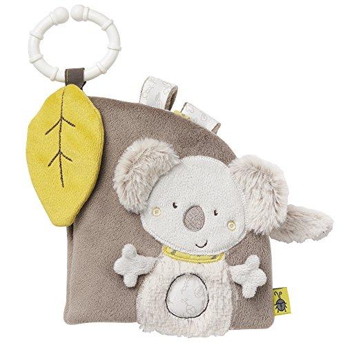 Fehn 064117 Soft-Bilderbuch Koala / Fühlbuch aus Stoff mit Tier Motiven - mit Quietsche, Rassel, Raschelpapier und Spiegel für Babys und Kleinkinder ab 0+ Monaten / Maße: 14x15 cm