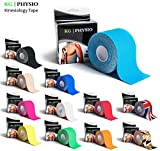KG | PHYSIO Kinesiology Tape Bright Blue - Uncut Muscle Support Tape - 5cm x 5m roll - 12 colours...