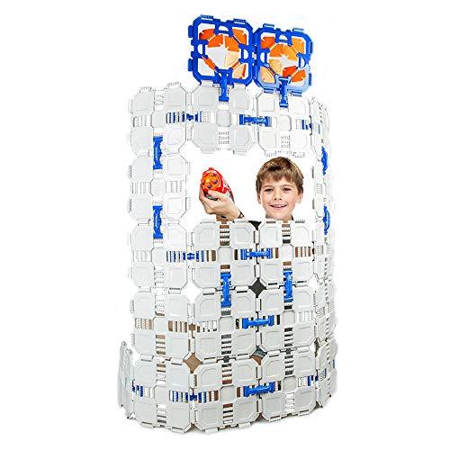 Happy Event Pack 22 Stück Building Board Kit Spielzeug für Nerf N-Strike Spiel Spielzeug Set Fort (Lego Jumbo-set)