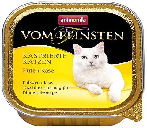 Animonda vom Feinsten Katzenfutter für kastrierte Katzen Pute + Käse, 32er Pack (32 x 100 g)
