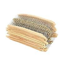 Bundle of 2, KKmoon Resistors Assortment Kit 1500pcs 75 Values 1 ohm to 10M ohm 1/4W 5% Carbon Film Electronic Components