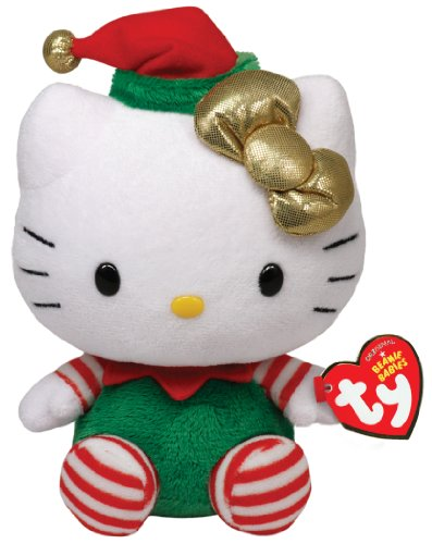 ty-beanie-babies-hello-kitty-green-christmas-outfit-japan-import