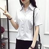 XXIN Shortsleeve T-Shirt Weiblichen Professionellen Arbeiten Half-Sleeved Kleid Lose Overalls Große Zahl, S, Weiss V-Neck Shirt