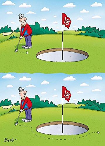 Witzige Grußkarte mit Golf-Motiv, Geburtstagskarte, 10459