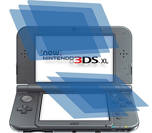 6x ANTIREFLEX matt Schutzfolie für New Nintendo 3DS XL Konsole (je 3 Folien pro Display) Premium Displayschutzfolie Bildschirmschutzfolie Display Schutz Schutzhülle Displayschutz Displayfolie Folie