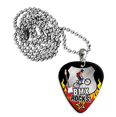 Bmx Rocks Gitarre Plektrum Pick Halskette Necklace (R1)