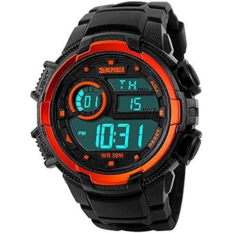 GL Mens digitale all'aperto elettronico impermeabile da polso Sport Watch