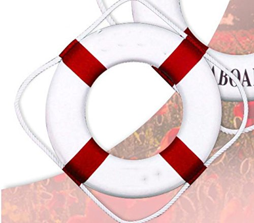 Rettungsring stammt die Inspiration für das Design aus dem Mittelmeer. Deko Rettungsring für das Schiff schwimmen , red