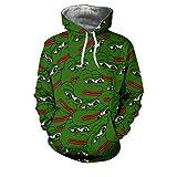 KISAFA Unisex 3D Print Pepe Der Frosch Hoodies/Sweatpants / Langarm Sweat Shirt/T-Shirts