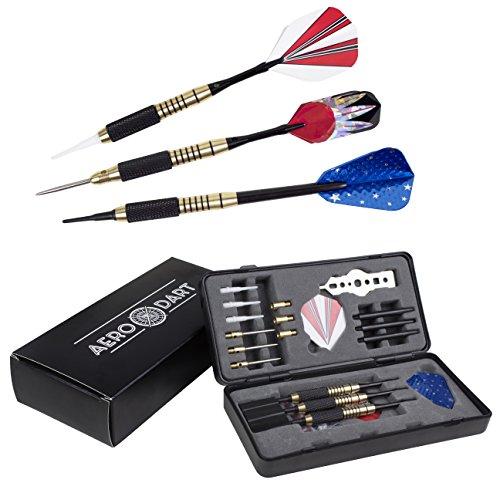 Kit de fléchettes | pointe en acier et pointe en plastique pour cible en liège ou cible électronique | 6 pointes supplémentaires | poids réglable | pour pro et débutants