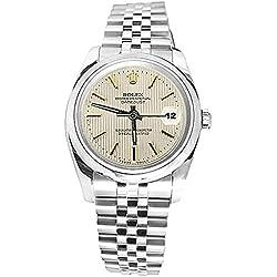 Datejust white stick dial men's rolex SS bracelet watch