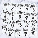 Vinyl-Aufkleber, Tischnummern 1-12 - ab 16,5 x 15,2 cm - Elegantes Hochzeitsplan, Hochzeitsplan, Paare, Bräutigam, Ehemann, Ehefrau, Ehefeier, Empfang, Liebe Dekoration Tables 1-20