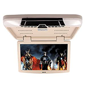 Ecran plafonnier TFT LCD 15.6 pouces Écran LED numérique Moniteurs de voitures pare-soleil pour auto véhicule , beige