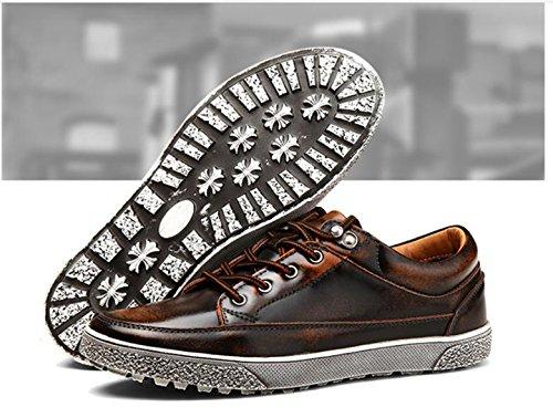 2017 nuove moda in pelle scarpe casual da uomo scarpe retrò 1