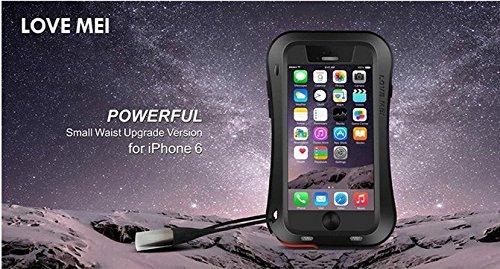 Original Schutzhülle aus Kurve Schutzhülle aus Aluminium Metall Schutzhülle Autoschondecke Wasserdicht Stoßfest Staubdicht Nachhaltige für 4,7Zoll iPhone 6Smartphone schwarz