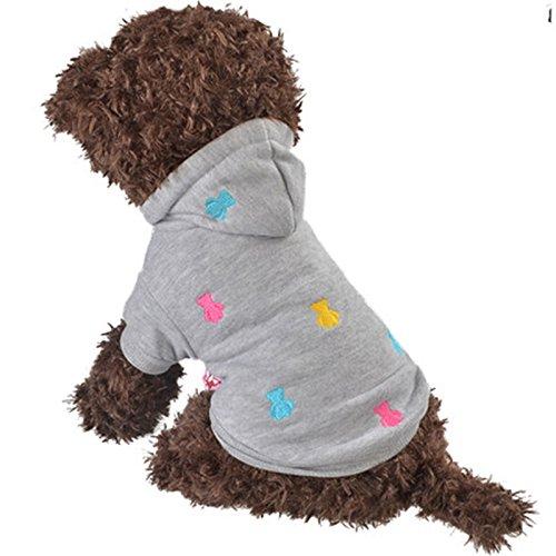PRIMA Vetement chien hiver Pull hiver pour chien petit ou moyen manteau à capuche mignon pour chien ou chat veste pour chien doux et chaud pull sport pour chien ou chiot taille disponible XXS à L