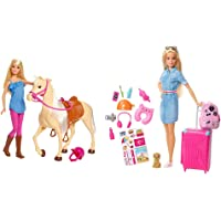 Barbie Bambola Con Cavallo E Accessori, Giocattolo Per Bambini 3+ Anni, Fxh13 & In Viaggio, Bambola Bionda Con Cucciolo…