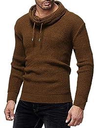 Camisetas Hombre Manga Camisas Corta Sudaderas con Capucha Moda OtoñO Invierno Jersey SóLido Punto Jersey Cuello