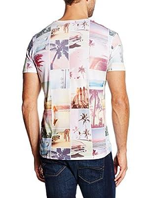 Tom Tailor Denim Men's Summer Panelprint Crewneck T-Shirt